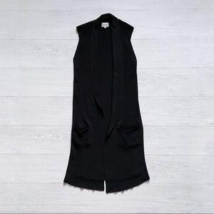 Wilfred Black Knit Vest